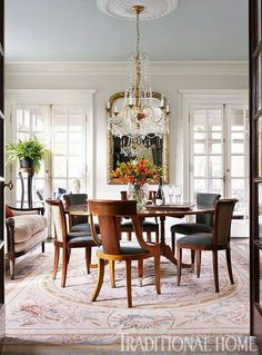Traditional Home Dining Rooms classic chic home: my obsession with beautiful blue rooms. home
