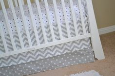 This bedding set would look fabulous in a grey nursery. #nursery #babybedding