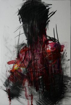 "Saatchi Online Artist KwangHo Shin; Painting, ""[24] untitled oil & charcoal on canvas 72.5 x 50 2013"" #art"