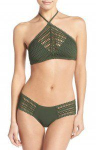 xaki plekto magio Crochet Halter Bikini Top