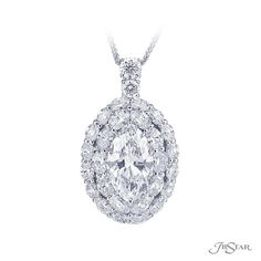 18/'/' ROUND NAIL NECKLACE PENDANT W// .75 CT LAB DIAMONDS// 925 STERLING SILVER