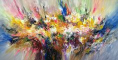 "Saatchi Art Artist Peter Nottrott; Painting, ""Large abstract painting Excessive...L 1"" #art"