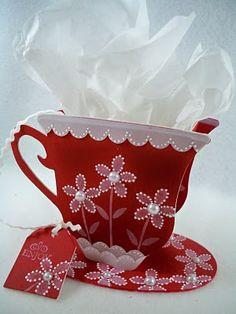 sizzix tea cup challenge ideas