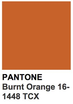 Pantone 16-1448 TCX Burnt Orange