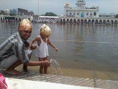 We are enjoying at Gurudwara Bangla Shahib.. on Sunday