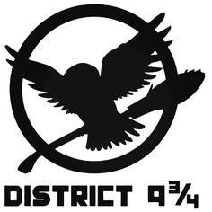 District 9 34 The Hunger Games Decal Sticker BallzBeatz . com