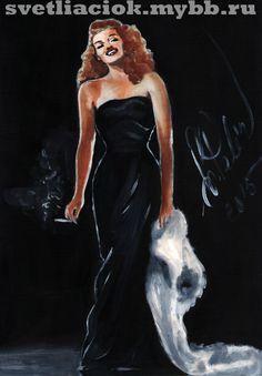 Rita Hayworth   #ritahayworth #ritahayworthart #art #artritahayworth #ритахэйворт #portrait #goldenage #oldhollywood #gilda #гильда
