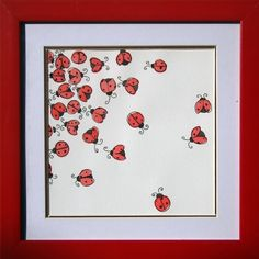 ladybugs, ladybugs-use scrapbook white paper put the ladybug stickers like in pic and use that for ppl to sign Lady Bug, Arts And Crafts, Paper Crafts, Diy Crafts, Art Projects, Projects To Try, Love Bugs, Watercolour Painting, Card Making