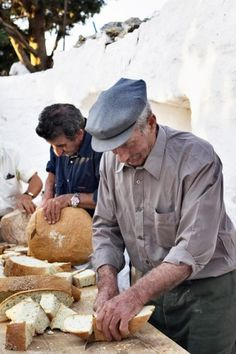 Artos, the Ancient Greek word for bread. Artos is given out during holidays after the church service.