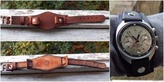 New Leather Classic Wristwatch Band, Strap For Men's Watch, Brown, Casual, 18 mm #Handmade