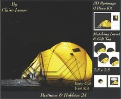 Past Times   Hobbies   Camping Night   Pyrimage Pyramid   Insert   Tag on Craftsuprint - View Now!