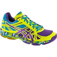Asics Gel Flashpoint - Yellow Purple Turquoise Squash Shoes 4f81a6629c
