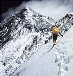 Bishop at the Lhotse face, approaching South Col. First American Everest ascent, 1963