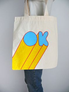 Hand printed and silkscreen tote bags.