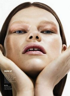 Kelly Mittendorf wears spring's best metallic makeup trends for Marie Claire