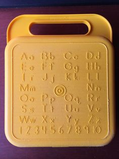 Tupperware ~ Vintage ABC Numbers Yellow Lunchbox ~ Crayon box/Storage Case   | eBay
