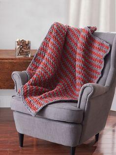 Sawtooth Afghan   Yarn   Free Knitting Patterns   Crochet Patterns   Yarnspirations  Blanket Yarn