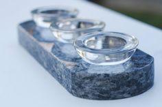 Unique Blue Granite Votive Candle Holder Base by StoneEvolutions, $49.99