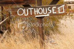 Make your own rustic outhouse sign