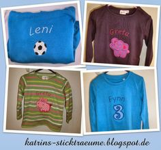 T-Shirts appliziert