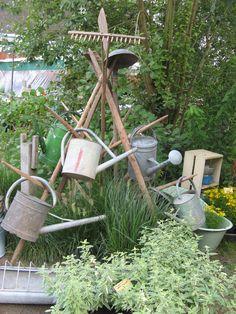 Stand auf einer Gartenveranstaltung