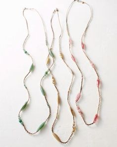 @Célia Sattamino Luu  Long Gem and Cord Necklace - Garnet Hill