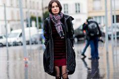 En las calles de Par�s durante Fashion Week Oto�o-Invierno 2016