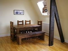 8b11641ca2 Eat Sleep Live - Client Gallery · Solid Wood Hudson Bench #eatsleeplive  #Reclaimedwood #Dining #Rustic Rustic Wood Bench,