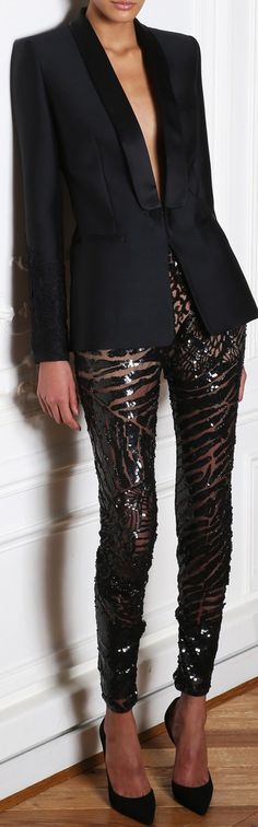 Just a tuxedo - and super cool printed pants