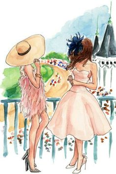 The May girls. The Kentucky Derby and Cinco de Mayo by Insle.- The May girls. The Kentucky Derby and Cinco de Mayo by Inslee The May girls. The Kentucky Derby and Cinco de Mayo by Inslee - Art And Illustration, Watercolor Illustration, Creative Illustration, Art Calendar, Calendar Girls, 2015 Calendar, Arte Fashion, Fashion Design, Run For The Roses
