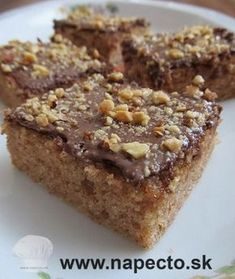 An easy-to-make recipe the whole family will love. Baby Food Recipes, Sweet Recipes, Cake Recipes, Cooking Recipes, Banana French Toast, Czech Recipes, Banana Nut, Easy Food To Make, Sweet Cakes