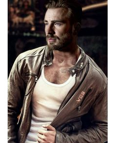 Chris Evans. I swear this man gets sexier with age.