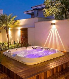 25 Awesome Inground Hot Tub Ideas That Will Drop Your Jaw - josh-hutcherson Inground Hot Tub, Jacuzzi Outdoor, Outdoor Spa, Outdoor Decor, Hot Tub Garden, Hot Tub Backyard, Backyard Patio, Patio Design, House Design