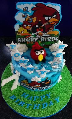Angry Birds Cake by Rachels Enchanting Cakes