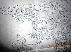 Sewing Machine Embroidery, Cutwork Embroidery, White Embroidery, Embroidery Stitches, Embroidery Designs, Rangoli Patterns, Doily Patterns, Craft Patterns, Sketch 4
