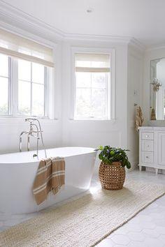 Bathroom Inspiration // Pure Salt Interiors The Definitive Source for Interior Designers Bathroom Spa, Bathroom Interior, Master Bathroom, Bathroom Ideas, Bathroom Designs, Bathroom Blinds, Relaxing Bathroom, Bathroom Windows, Bathroom Goals