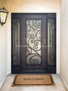 Custom Iron Doors, Sidelights, and hardware. We offer a wide variety of doors for your home or office building. Our professional staff can help make your ideas become reality with expert craftsmanship and reliable service. 💡 About this design: Tuscany Iron Door w/Sidelights ☎️️ 877-205-9418 🌐 www.iwantthatdoor.com