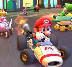Mario Kart Tour Zooms Onto Smartphones Tomorrow Here's When It Goes Live - Nintendo Life Yoshi, Mario Kart 8, Mario Bros, Kart Racing, Test Card, Level Up, Mobile Game, Jouer, Free Games