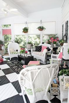 OH MY! Look at this porch from Southern Hospitality blog