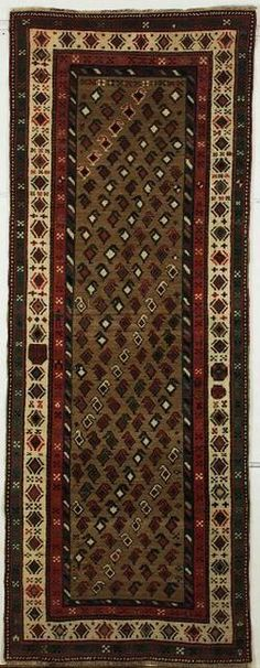 Talish Long Rug, Southeast Caucasus, late 19th century,  8 ft. 10 in. by 3 ft. 5 in.    Skinner Auctioneers Sale 2192