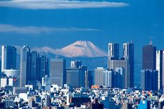 Mt Fuji can be seen from the cities
