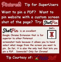 GREAT Pinterest Tool for Google Chrome Browser.   Seriously consider switching to Chrome just to use it!!!