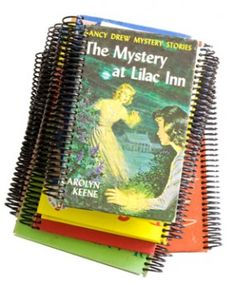 Use hardback book covers for making journals.