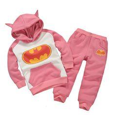 a41a7f5223 Boy Girl Batman Suit Cartoon Set Animal Set Hoodies+Pants Child Clothes Set  Batman Hoodie