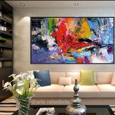 Abstract painting fullcolor relieve Paint on drop cloth Modern Art, Contemporary Art, Bedroom Art, Home Decor Wall Art, Large Art, Painting Inspiration, Art Pictures, Art Pieces, Abstract Art