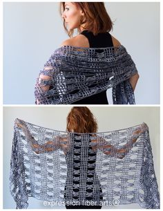 how to crochet this Hoover Dam Crochet Shawl Pattern Crochet Cape, Crochet Shirt, Crochet Cardigan, Crochet Scarves, Crochet Clothes, Knit Crochet, Crochet Vests, Cardigan Pattern, Knitted Shawls