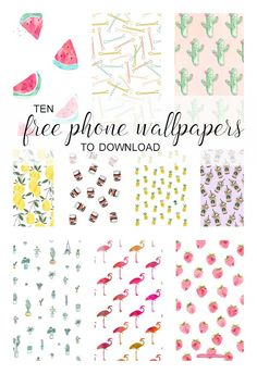These patterns are so cute and I find myself changing my lock screen frequently just to admire them all!