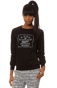 Crooks and Castles Crewneck The Crimewave in Black. Sale Price: $45.95 use code: 50OFF75 for 50% off!