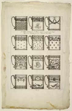 Print, Designs for Chocolate Cups, plate 1 from 1st Cahier d'Ornemens et Fleurs. source: cooperhewitt.org