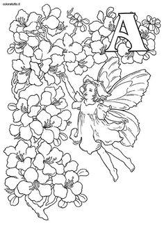 Coloring pages alphabet fairies 2 1